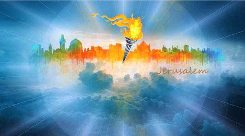 La nouvelle Jérusalem n'a besoin ni du soleil ni de la lune pour l'éclairer, la gloire de Dieu lui-même l'illumine de manière resplendissante grâce à l'Agneau qui est son flambeau.  Souvenons-nous, en effet, que Jésus est la Lumière du monde !