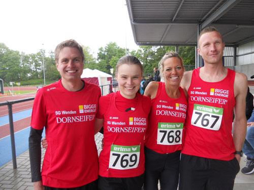 v.l.: Fabian Jenne, Judith Hacker, Christl Dörschel, Christian Biele