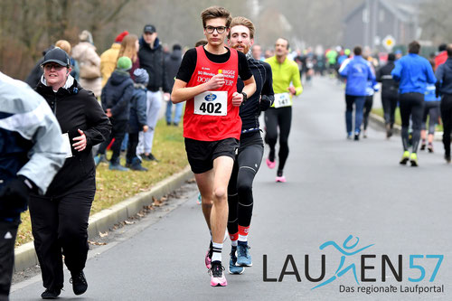 Wehbach Anfang 2020: Das Ergebnis bedeutet für Lukas Platz 1 in der FLVW Bestenliste des vergangenen Jahres