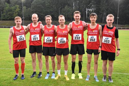 Die schnellen Jungs der SG Wenden: (v.l.) Frederik, Ruben, Fabian, Jonas, Tobias, Lukas, Felix