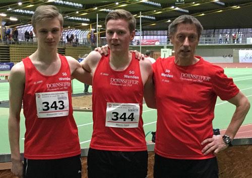Alex Lind, Marco Giese und Egon Bröcher waren mit dem Auftritt der SG in Dortmund sehr zufrieden