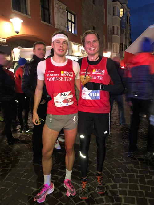 Sieg beim Silvesterlauf 2019 in Innsbruck