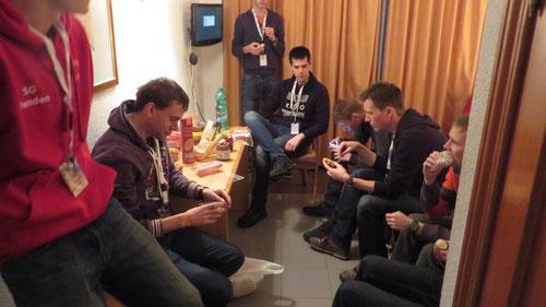 Hotelzimmer: Die Jungs hatten Hunger