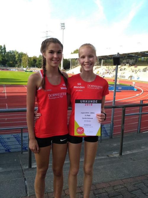 Dürfen stolz sein: Johanna Pulte und Carolin Schmidt