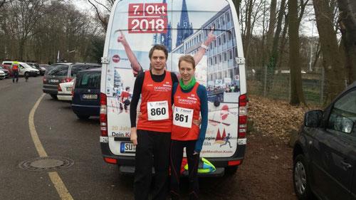Fabian Jenne und Daniela Wurm (Bild vom Silvesterlauf 2017)