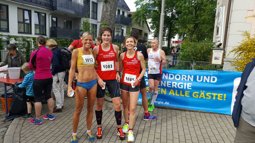 Christl, Sandra und Katja direkt nach dem Zieleinlauf