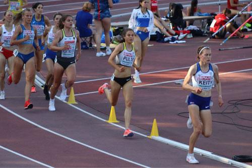 Johanna Pulte in der vorletzten Runde auf Rang 2; Foto: W. Pulte