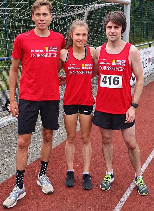 v.l.: Simon Huckestein, Johanna Pulte, Alexander Henne