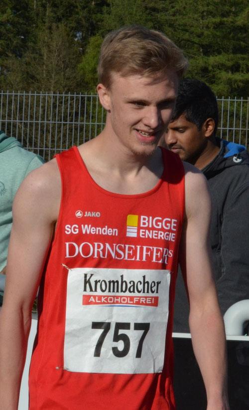 NRW-Meister über die 400m: Alexander Lind von der SG Wenden