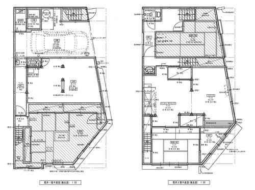 作成した既存住宅の図面