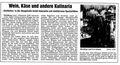 Wetterauer Zeitung, Käse, Wein , Kulinaria, Familienunternehmen