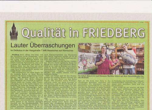 Wetterauer Zeitung, Anzeige, Qualität in Friedberg, Lauter Überraschungen