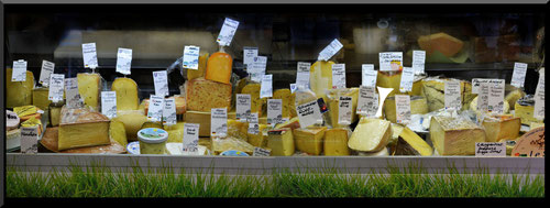 Käsetheke,Sortiment,Allgäu,Heumilchkäse, Bergkäse,Bergblütenkäse,Isny