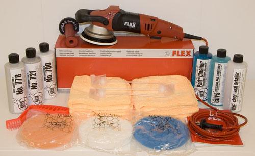 flex xc 3401 exzenter poliermaschine set autopflege. Black Bedroom Furniture Sets. Home Design Ideas