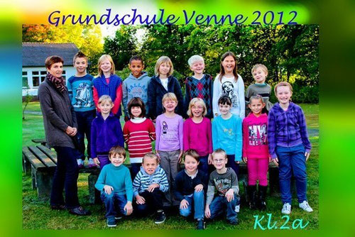 Klasse 2a mit Frau Auf der Heide im Oktober 2012