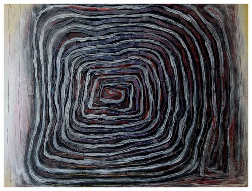 """Offenes Labyrinth"" 2011 ET/LW 60x50"