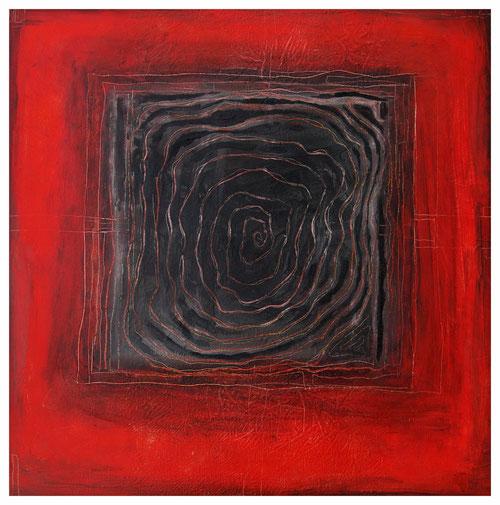 """Labyrinth"" 2011, ET/LW 60x60"