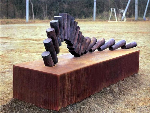 Wedge  1996 <No.A-04>  /1996 / cor-ten、mild steel / H.100x235x60cm