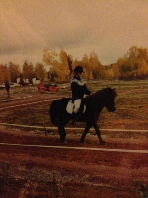 Krummi och jag på vår 1:a tävling i Orsa- 96