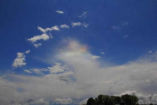 また彩雲を見ることができた