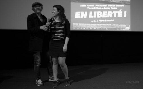 Camille Bazbaz Beauvais, Marie Holweck, cinema Agnès Varda, salle cinema beauvais, pierre salvadori, en liberte, ubique zone