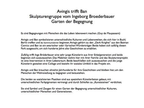 Text Ingeborg Broederbauer zu Ihrer Arbeit (Text ist durch anklicken vergrößerbar)