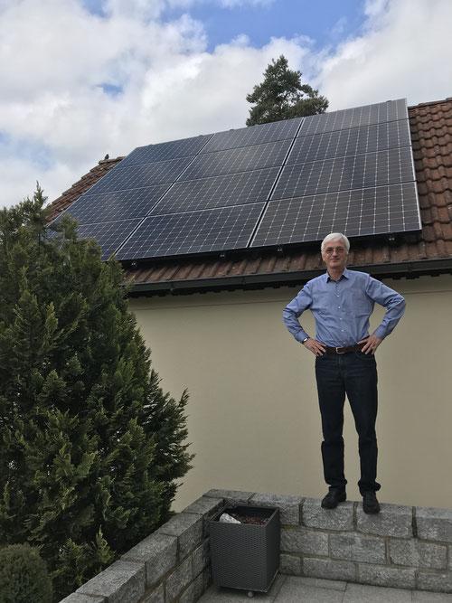 Herr Stens aus Uttenreuth besitzt bereits seit März 2018 eine Photovoltaikanlage © iKratos