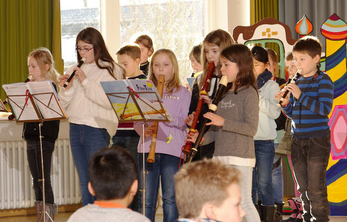 Die Flötengruppe von Frau Gustmann