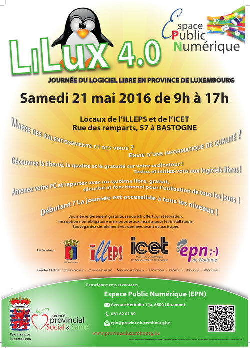 Journée du logiciel libre en province de Luxembourg