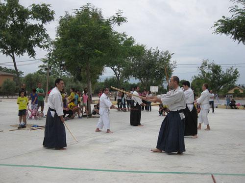 Exhibición de Aikido en el CP Pintor Sorolla.  27-9-2014