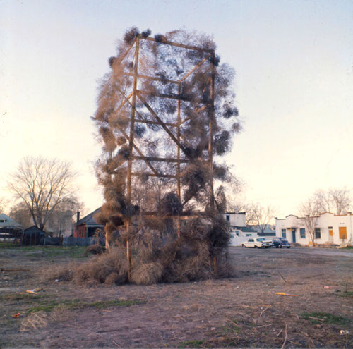 Gianni Pettena, Tumbleweeds Catcher, Salt Lake City 1972.