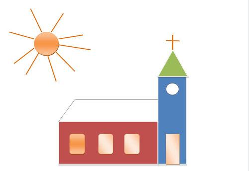 Kirche in Word erstellt