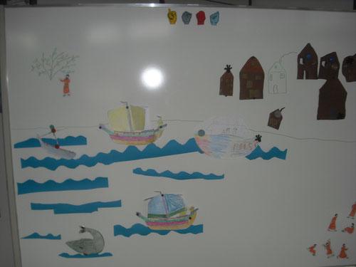 Das Thema Jona bei uns im Reli-Unterricht.