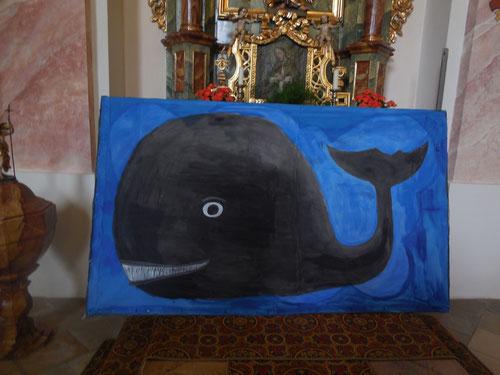 Abschlussgottesdienst 2014 mit der evangelischen Gehörlosenseelsorgerin Pfarrerin Wolf zum Thema Jona