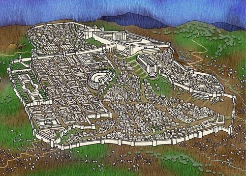Jerusalem zur Zeit Jesu (c) John Paul Stanley, keine kommerzielle Nutzung, nur für den Religionsunterricht