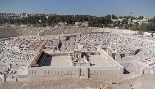 Model des Tempels in Jerusalem