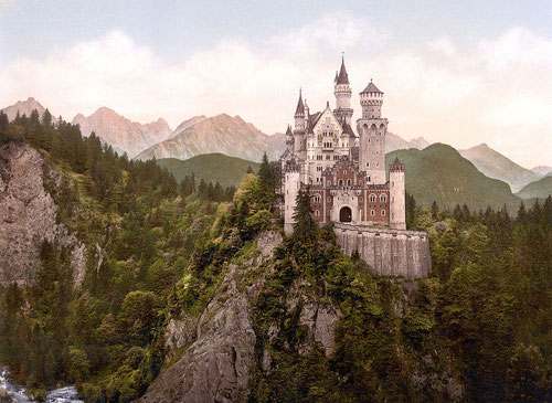 Schloss Neuschwanstein, fotografiert 1900