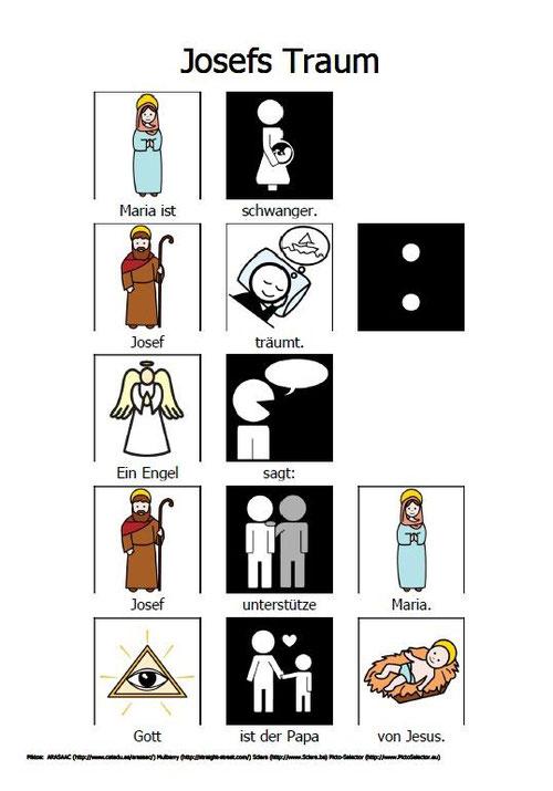 Josefs Traum mit Piktogrammen