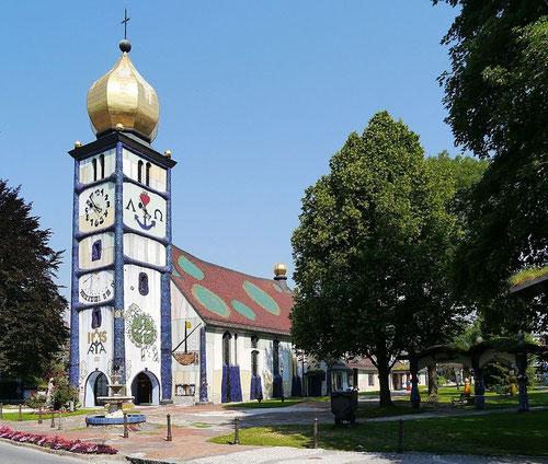 Hundertwasser Kirche in St. Bärnbach, Wikipedia, Zairon