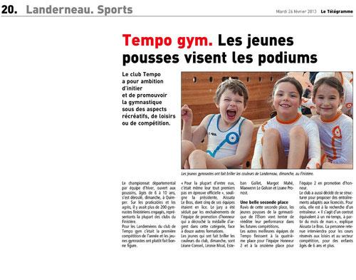 Le Télégramme 26 fév. 2013