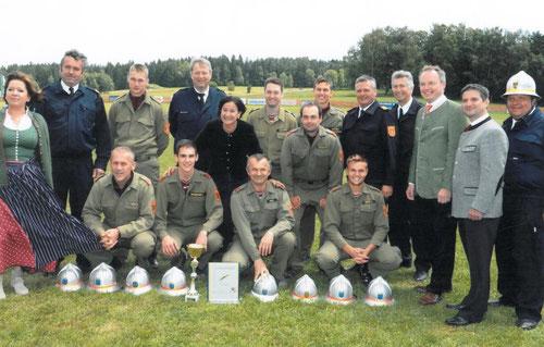 Wettkampfgruppe Zwingendorf 1 - Landesfeuerwehrleistungsbewerb in Leopoldsdorf 4. Platz, Silber A