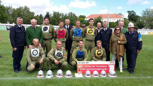Wettkampfgruppe Zwingendorf 1 - Siegerehrung 66. NÖ LFLB 2016 in Zistersdorf
