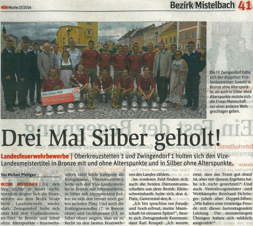 Bericht aus der NÖN Mistelbach (Ausgabe 27/2014)