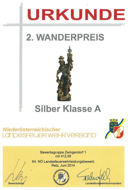 Urkunde 2. Wanderpreis (Hl. Florian), Silber A