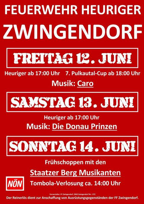 Plakat FF-Heuriger 2015 in Zwingendorf