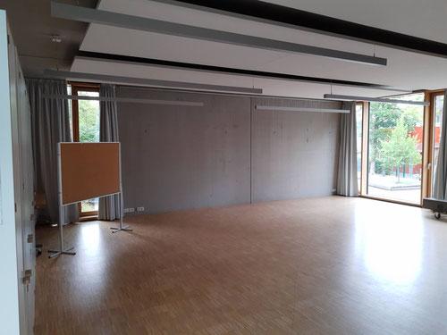 Leinwandmontage - leerer Raum vor Montage