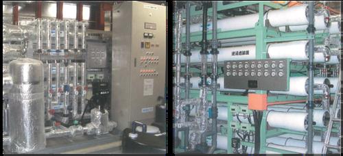 水処理プラントの使用例の写真