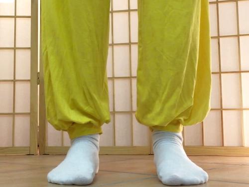 Die Füße beobachten