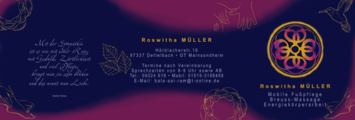 Roswitha Müller • Therapeutin