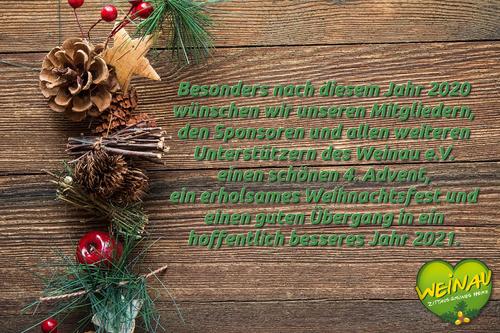 Weihnachtsgrüße des Weinau e.V. 2019
